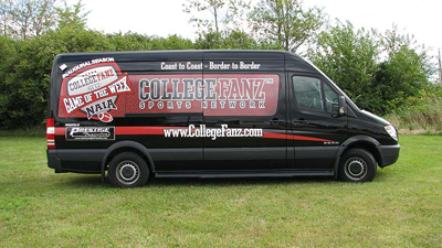 College Football sprinter van